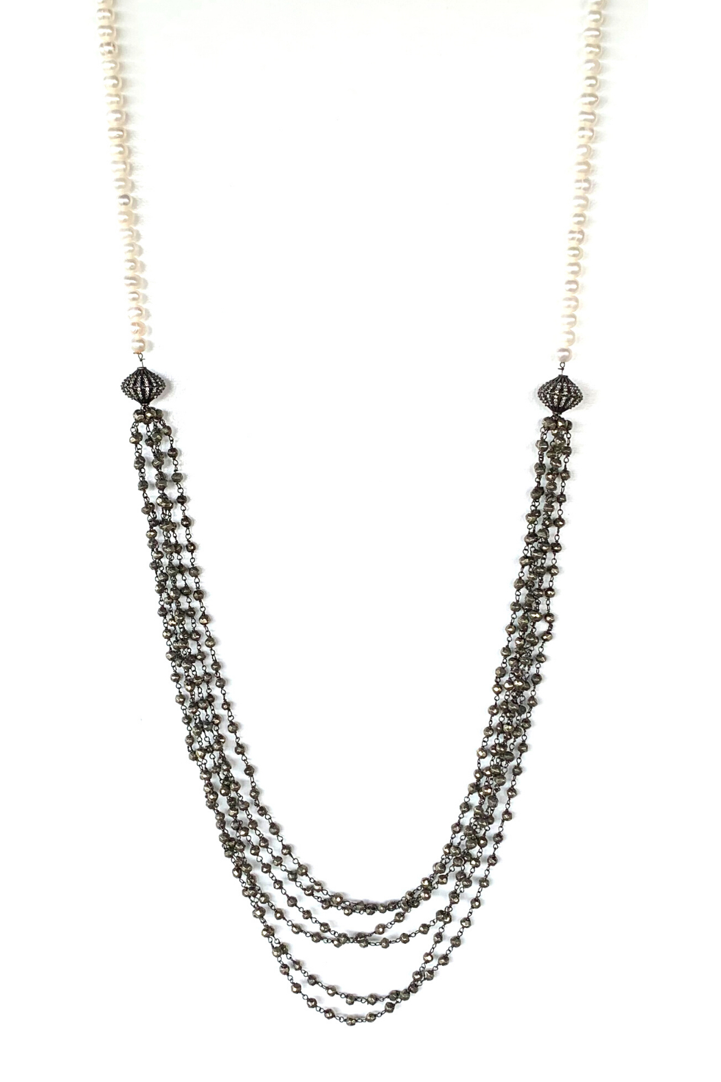 LuLuLisa Pearl & Multi Chain Necklace - Main Image