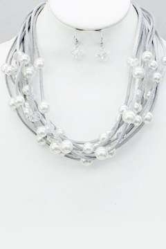 Wholesale Fashion Pearl Multi-Strand Necklace/earrings - Product List Image