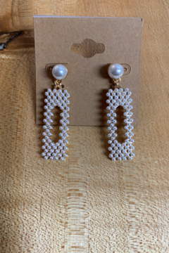 Shoptiques Product: Pearl of the Party Earrings