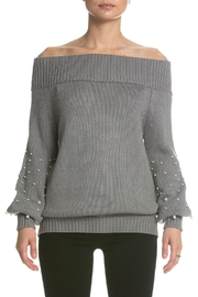 Elan Pearl Off-Shoulder Sweater - Product Mini Image