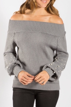Elan Pearl Off-Shoulder Sweater - Alternate List Image