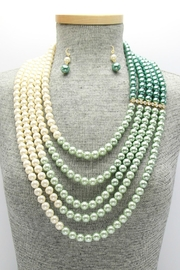 Embellish Pearl Ombre Necklace - Front full body