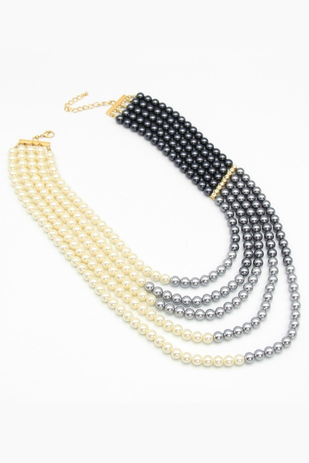 Embellish Pearl Ombre Necklace - Main Image