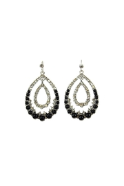 Giftcraft Inc.  Pearl Rhinestone Earrings - Product Mini Image