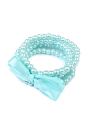 Riah Fashion Pearl-Ribbon Stretch Bracelet - Product Mini Image