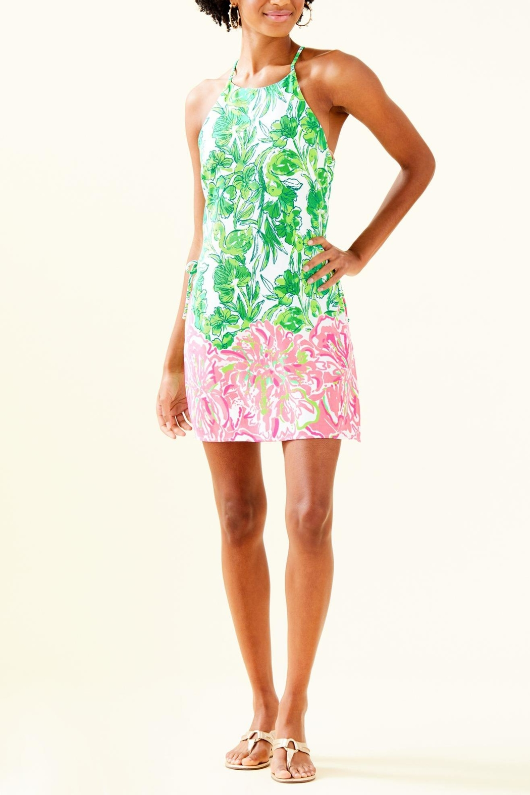 Lilly Pulitzer Pearl Romper - Back Cropped Image