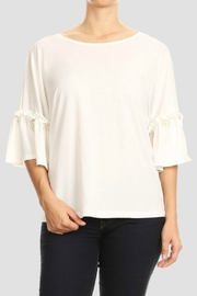 Blvd Pearl Sleeve Blouse - Product Mini Image