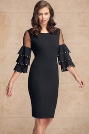 Frank Lyman Pearl Sleeve Dress, Black - Product Mini Image