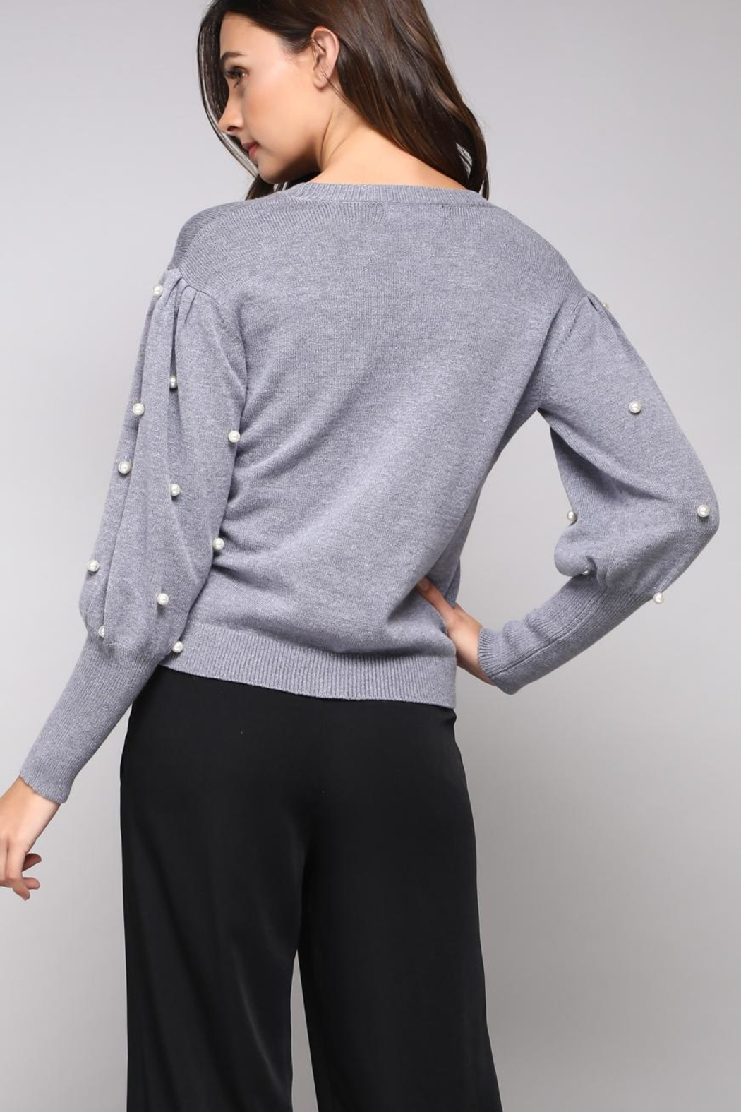 Do & Be Pearl Sleeve Sweater - Front Full Image
