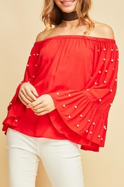 Entro Pearl Sleeve Top - Product Mini Image