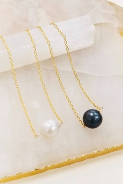 Lotus Jewelry Studio Pearl Solitare Necklace - Product List Image