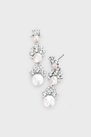 Wild Lilies Jewelry  Pearl Statement Earrings - Front cropped