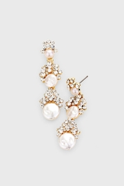 Wild Lilies Jewelry  Pearl Statement Earrings - Product Mini Image