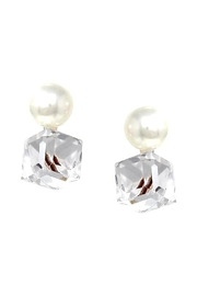 US Jewelry House Pearl Stone Earrings - Front cropped