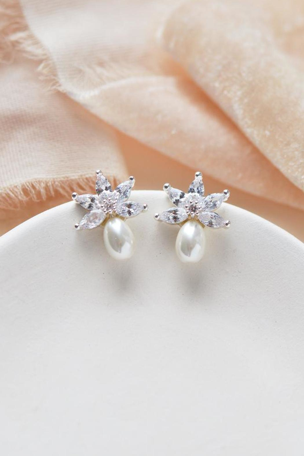 Wild Lilies Jewelry  Pearl Stud Earrings - Front Cropped Image