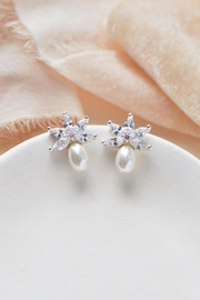 Wild Lilies Jewelry  Pearl Stud Earrings - Front cropped
