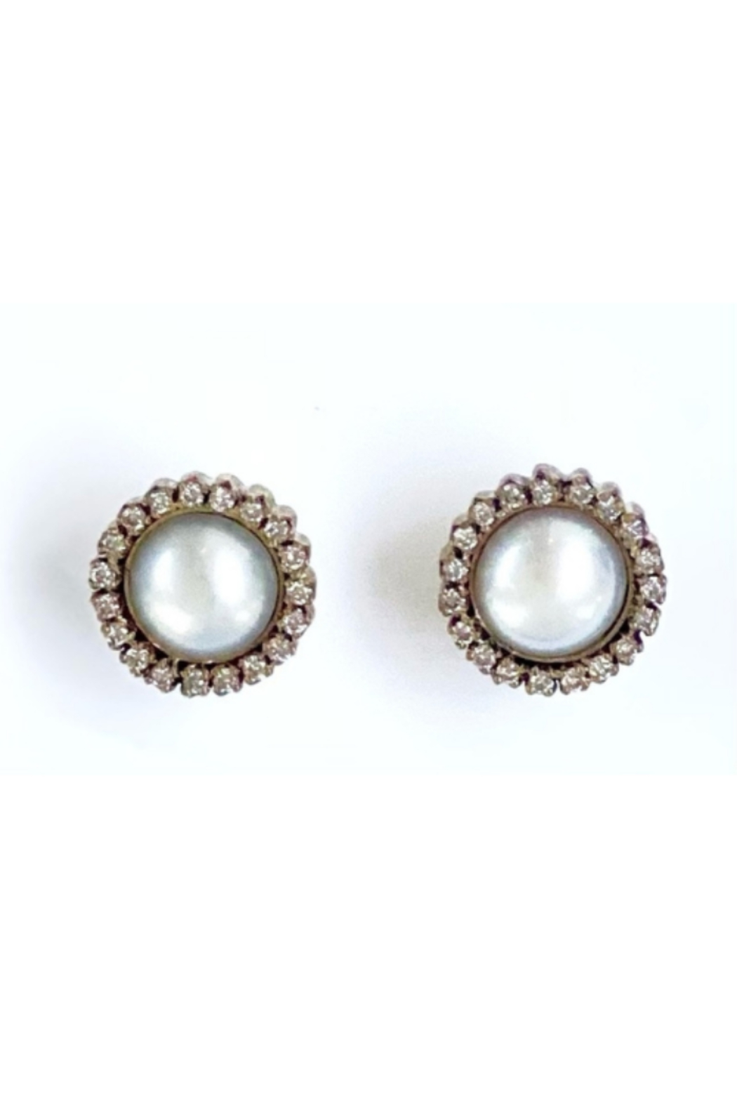 The Woods Fine Jewelry  Pearl Stud Earrings - Side Cropped Image