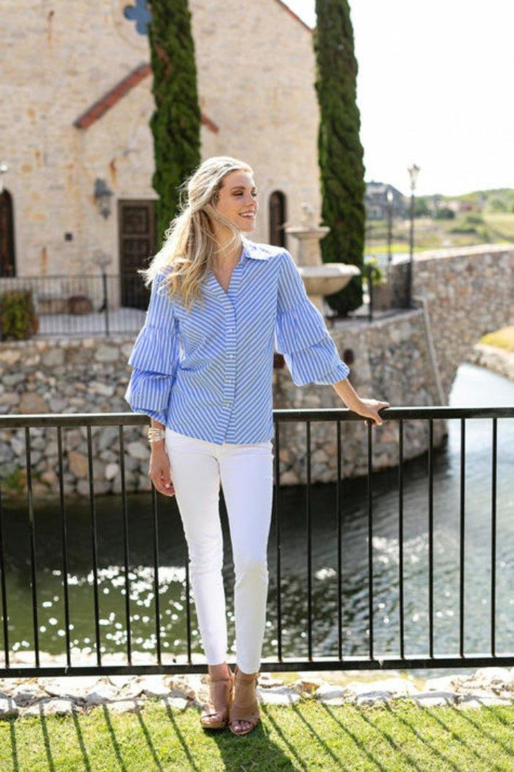 Sharon Young Pearl Studded Button-Up - Main Image