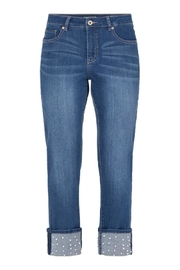 Tribal Pearl Studded Jeans - Product Mini Image