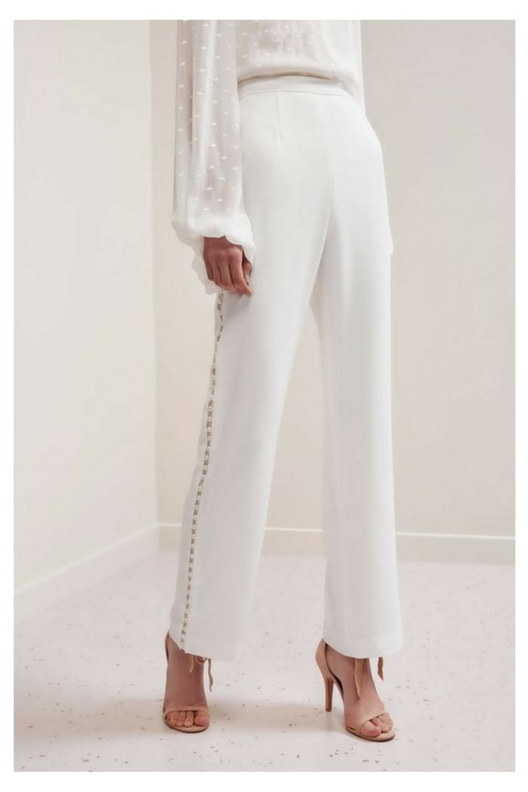 Keepsake Pearl Studded Pants - Front Cropped Image