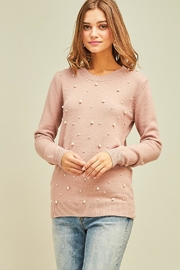 Entro Pearl Studded Sweater - Product Mini Image