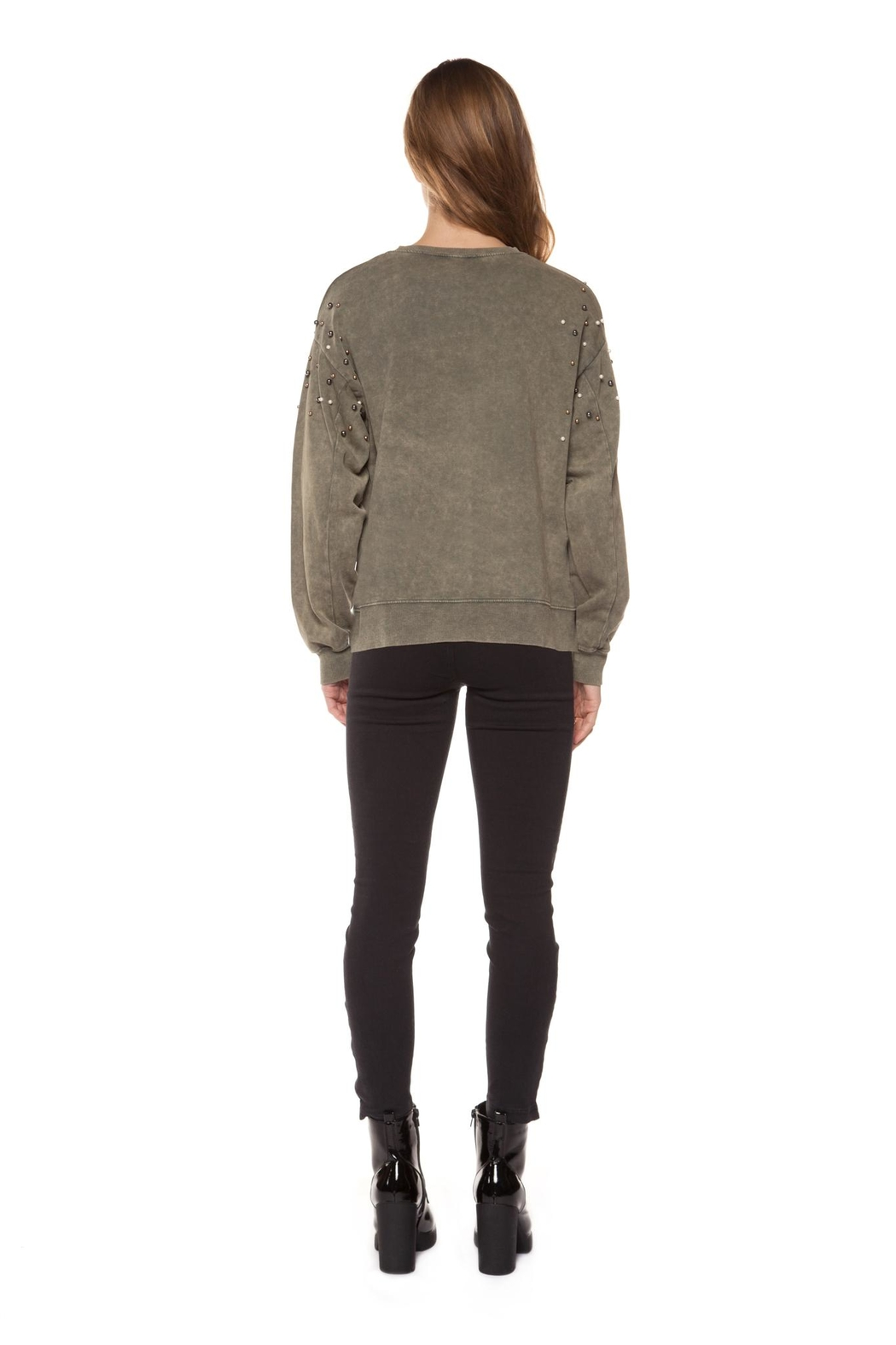 Dex Pearl Studded Sweatshirt - Front Full Image