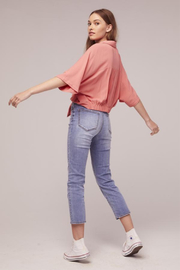 Band Of Gypsies Pearl Tie Top - Front cropped