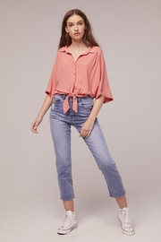 Band Of Gypsies Pearl Tie Top - Side cropped