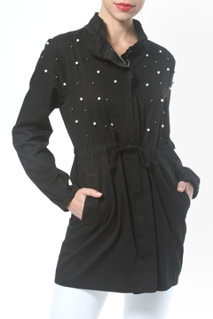 Madonna & Co Pearl Trim Trench - Product List Image