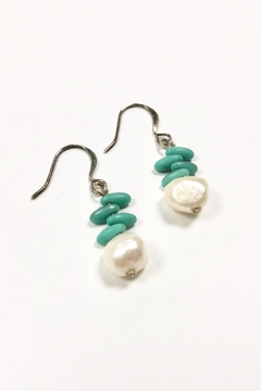 Cove Pearl Turquoise Earrings - Product List Image