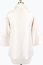 Damee Pearl White Quilted Jacket - Front full body