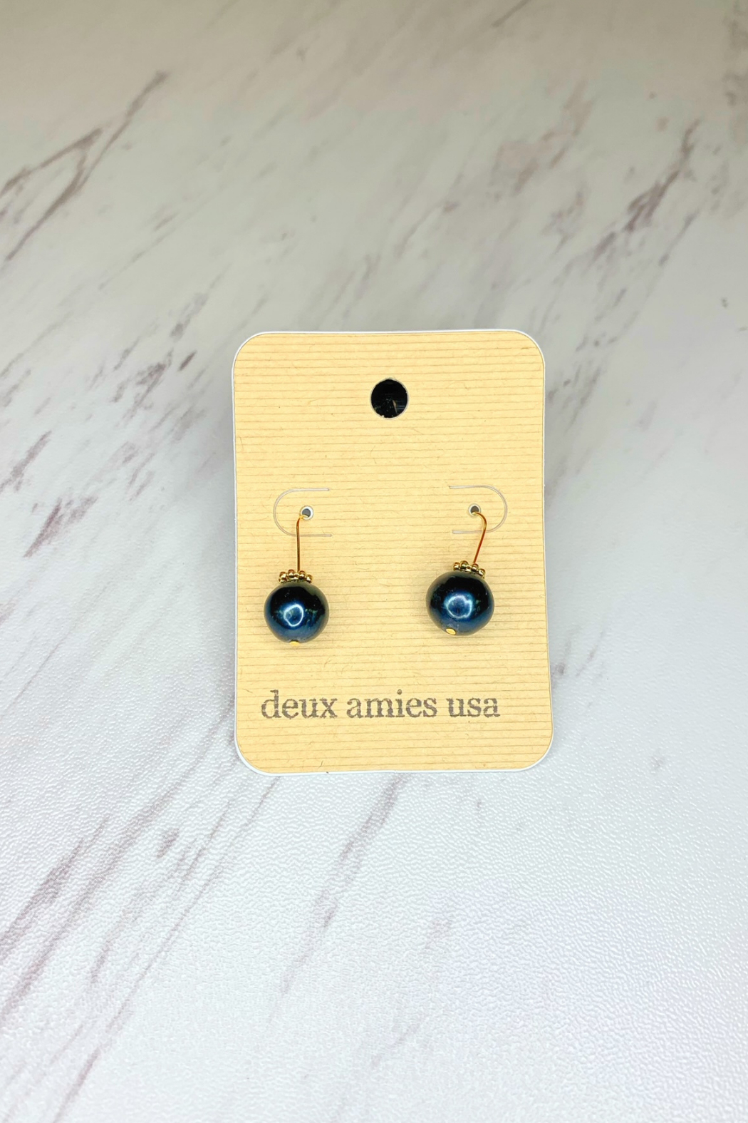 Deux Amies Pearl Wire Earrings - Front Cropped Image