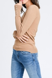 Love Tree Pearled Cuff Top - Side cropped
