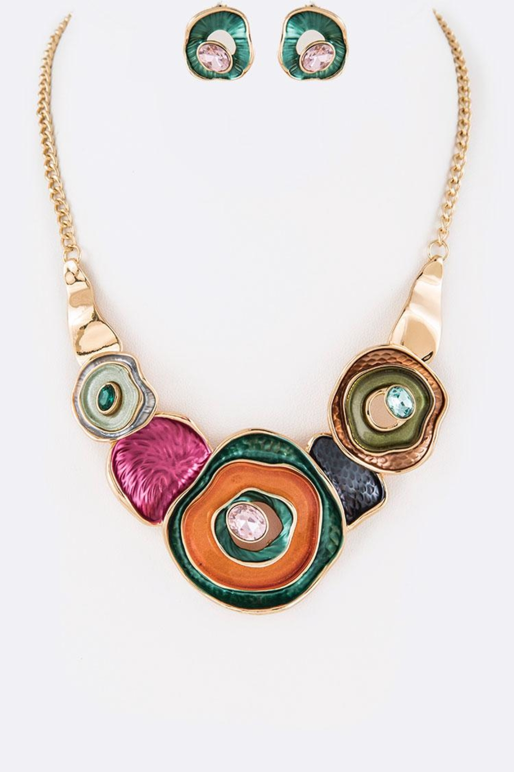 Nadya's Closet Pearlized Necklace Set - Front Cropped Image