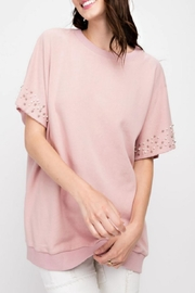 easel Pearls-Distressed Tunic Top - Product Mini Image