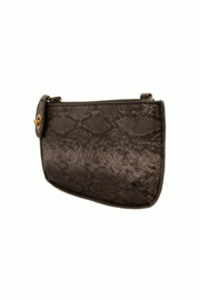 Joy Accessories Pearly Python Crossbody Wristlet Clutch - Side cropped