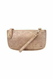 Joy Accessories Pearly Python Crossbody Wristlet Clutch - Front cropped