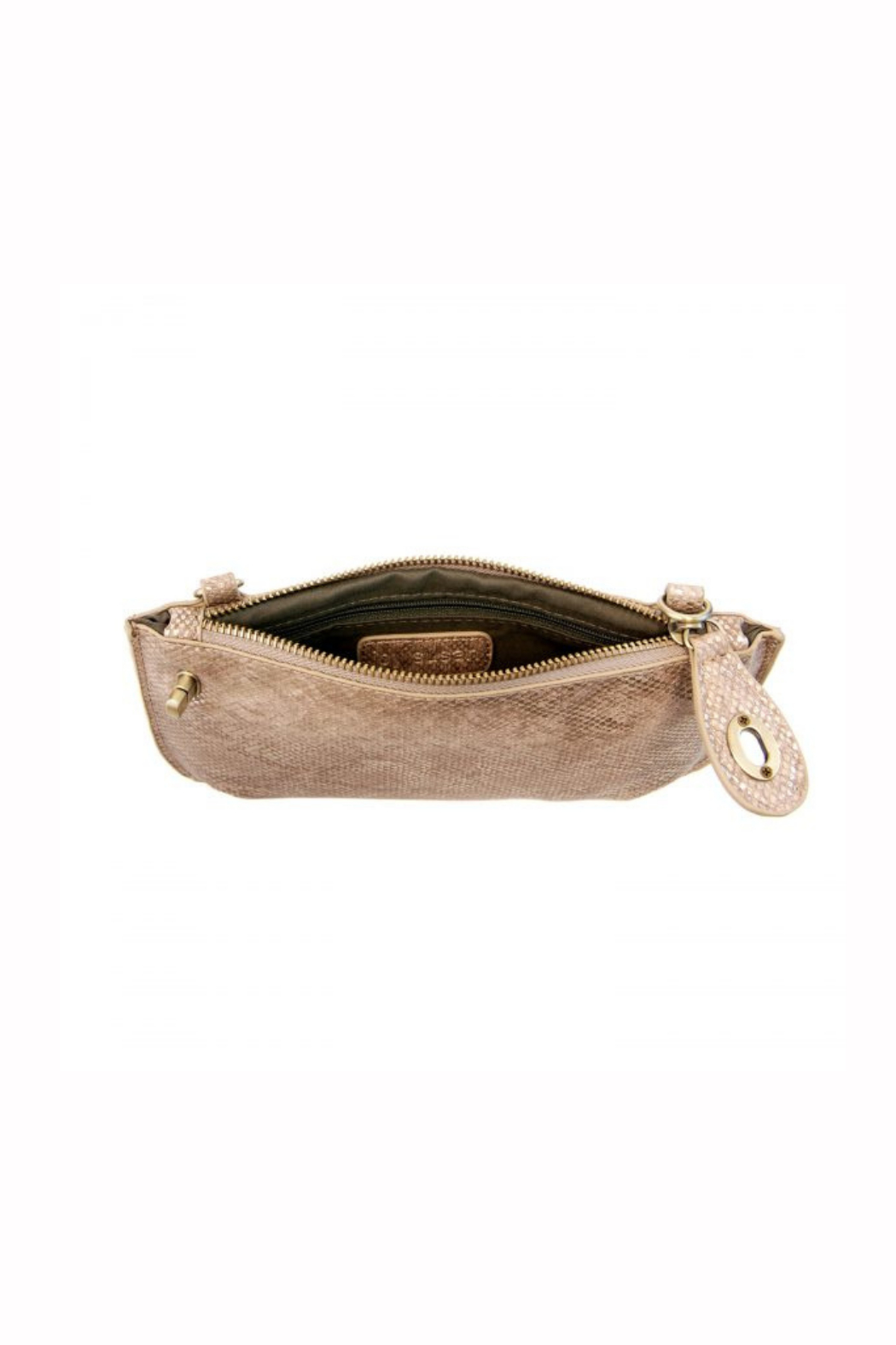Joy Accessories Pearly Python Crossbody Wristlet Clutch - Side Cropped Image