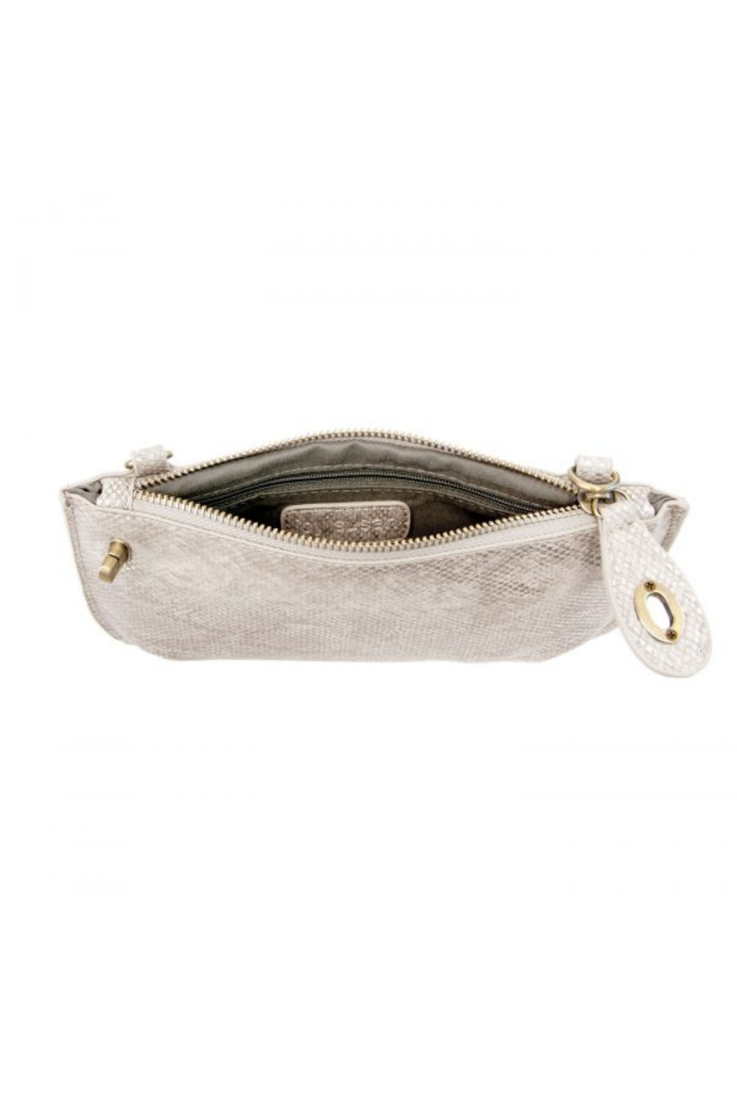 Joy Accessories Pearly Python Crossbody Wristlet Clutch - Back Cropped Image