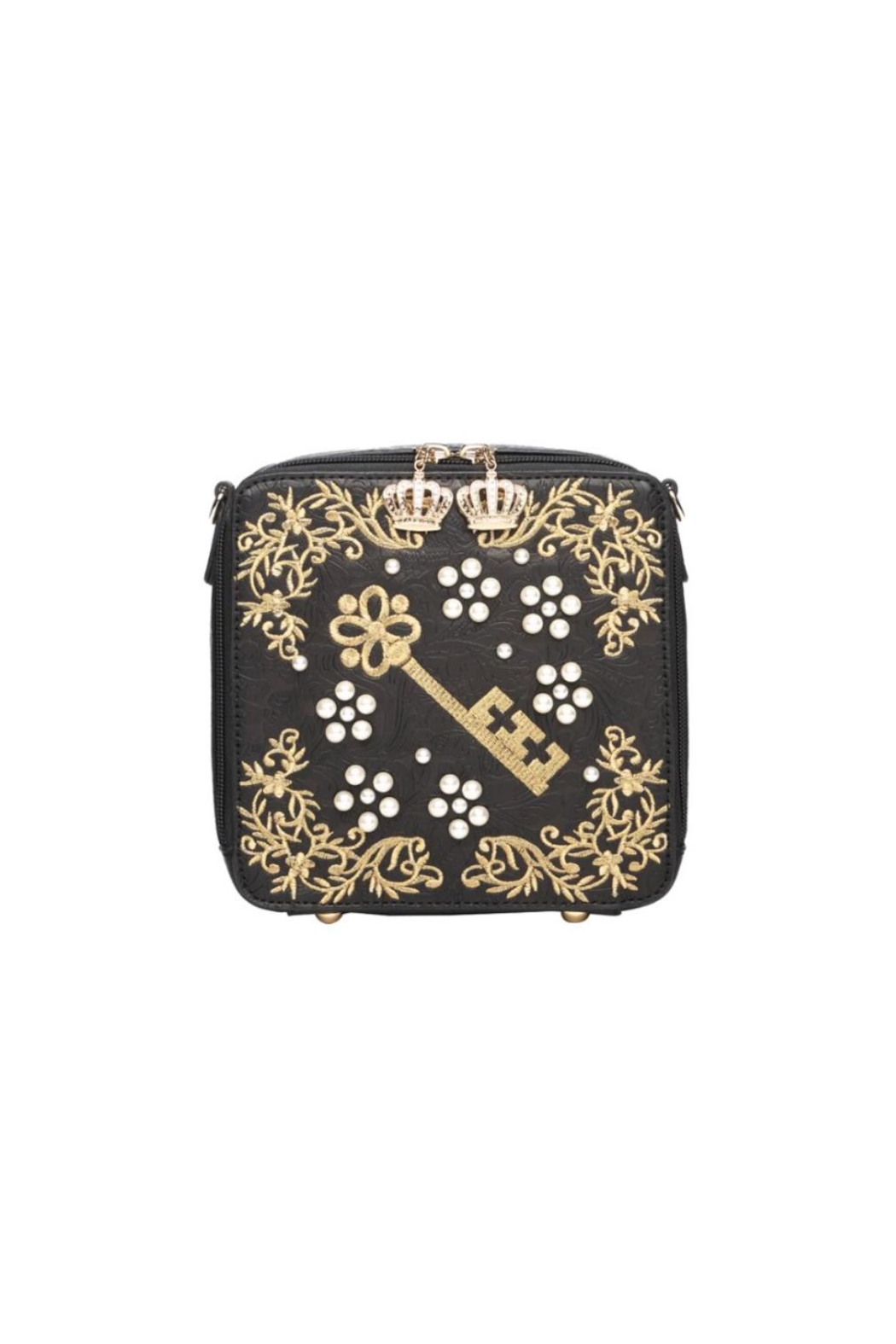 Vendula London Pearly-Queen Box Bag - Front Cropped Image