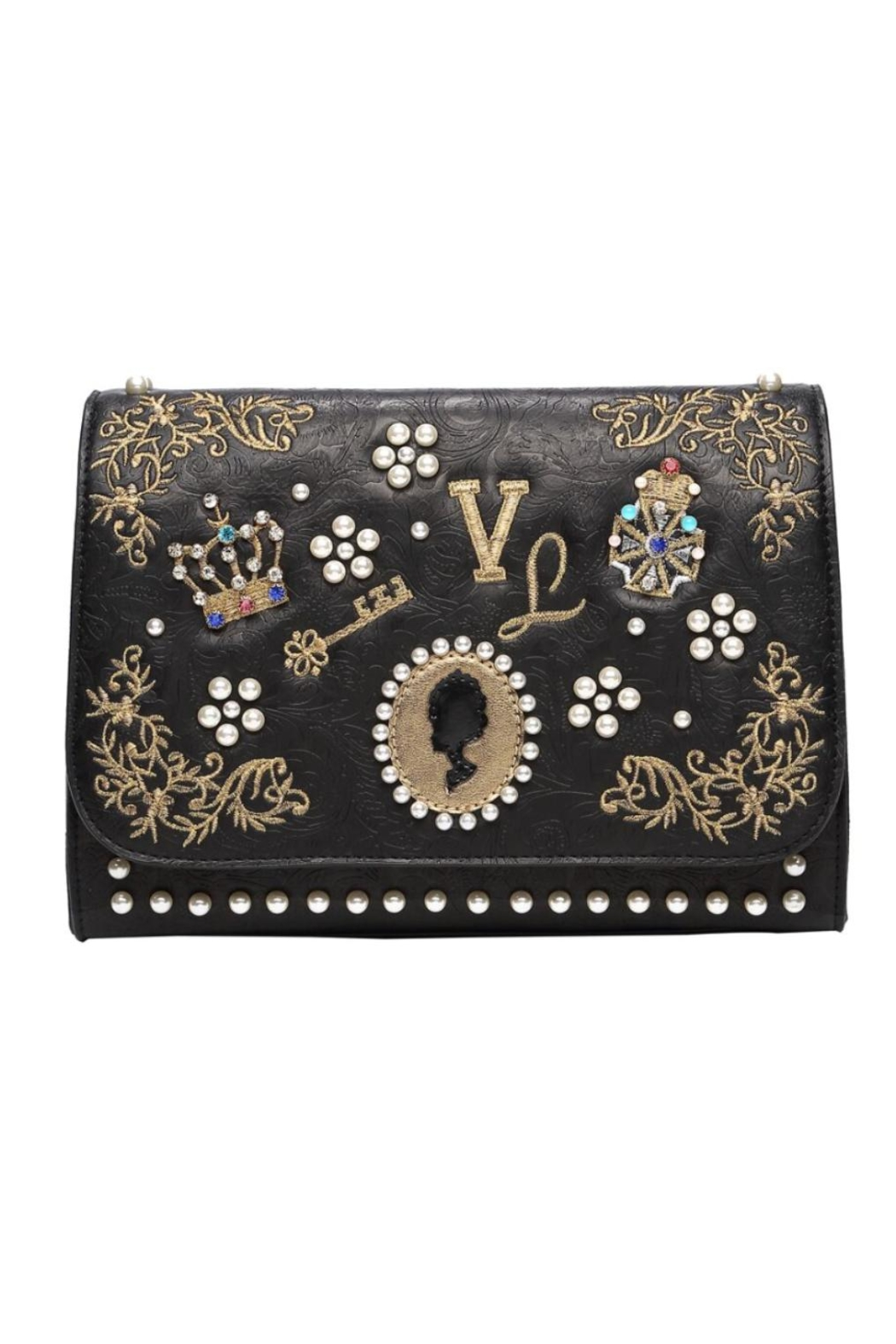 Vendula London Pearly-Queen Shoulder Bag - Front Cropped Image