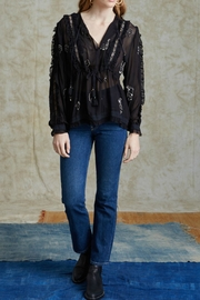 Chan Luu Peasant Beaded Blouse - Front cropped