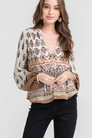 Lush Peasant Blouse - Product Mini Image