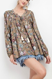 easel Peasant Floral Blouse - Product Mini Image