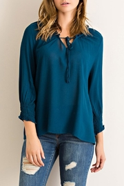Entro Peasant Smocked-Sleeved Top - Product Mini Image