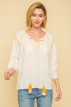 Mystree Peasant Tassle Blouse - Product List Image