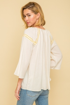 Mystree Peasant Tassle Blouse - Alternate List Image