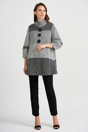 Joseph Ribkoff Pebble Coat, Grey/Multi - Product Mini Image