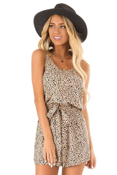 She + Sky Pebble Print Belted Romper - Product List Image
