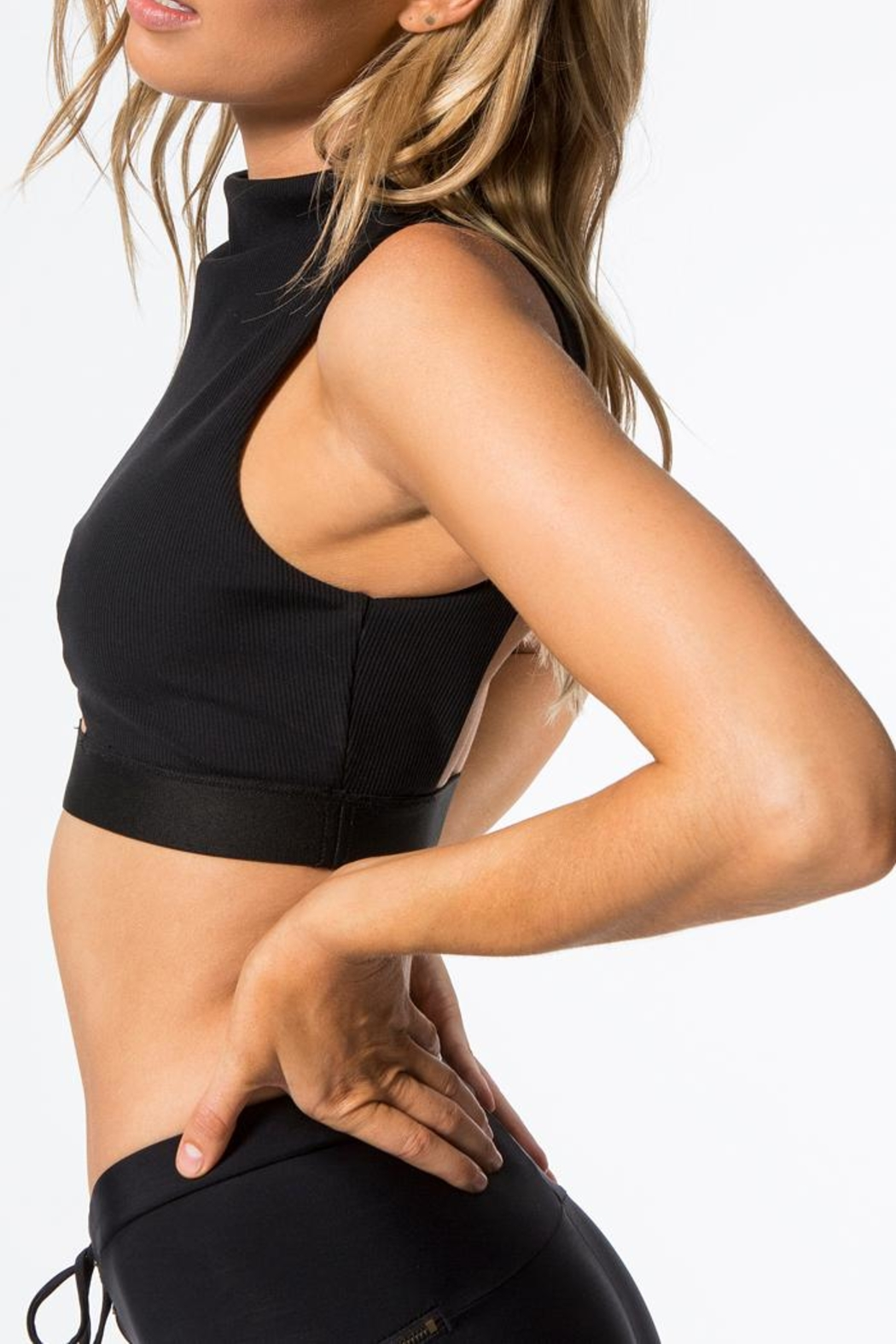 Blue Life Fit Peek-A- Boo Crop-Top/bra - Back Cropped Image